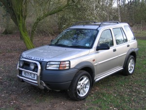 Freelander with side steps